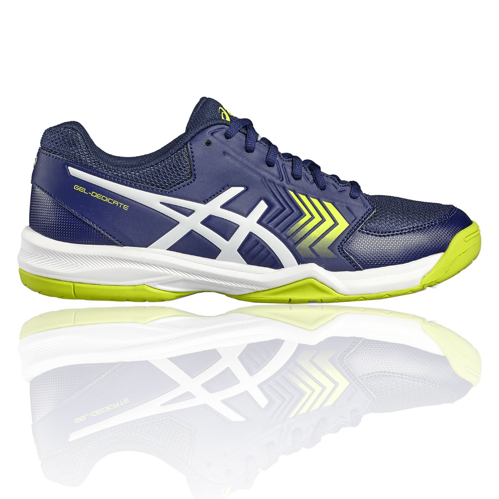 ed83a6a5f6f7 Details about Asics Gel Dedicate 5 Mens Blue Tennis Shoes Sports Trainers  Pumps Sneakers