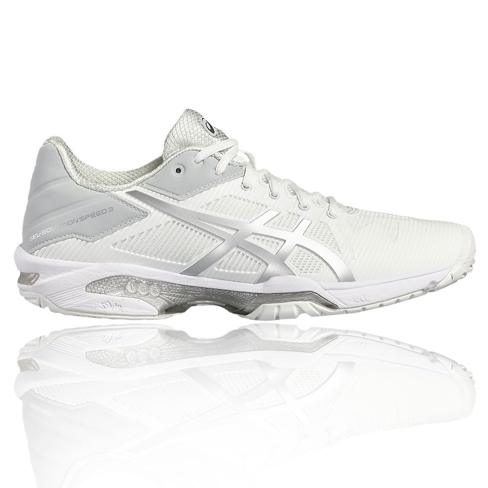 Asics Gel Solution Speed 3 Donna Bianco Tennis Sport Scarpe da Ginnastica