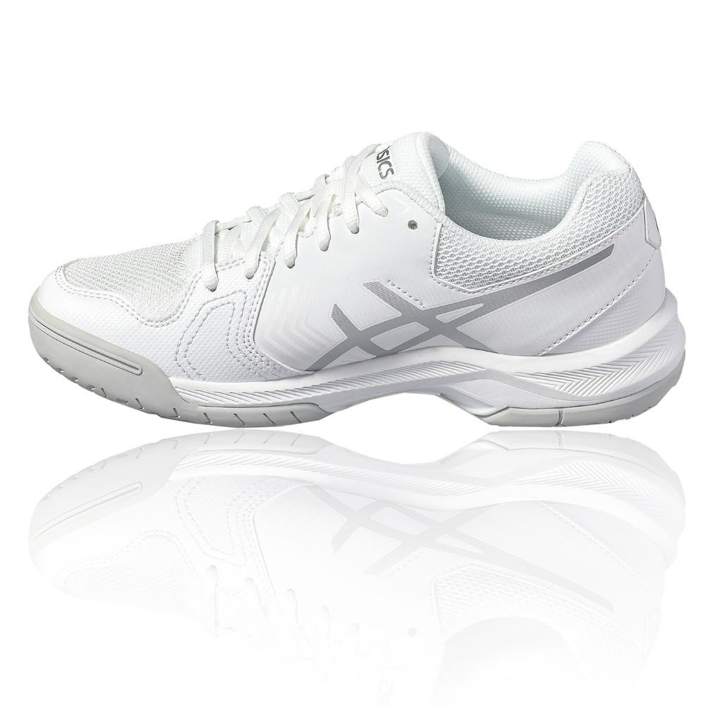 ed281a388566 Asics Gel Dedicate 5 Femmes Blanc Tennis Chaussures De Sport Baskets ...