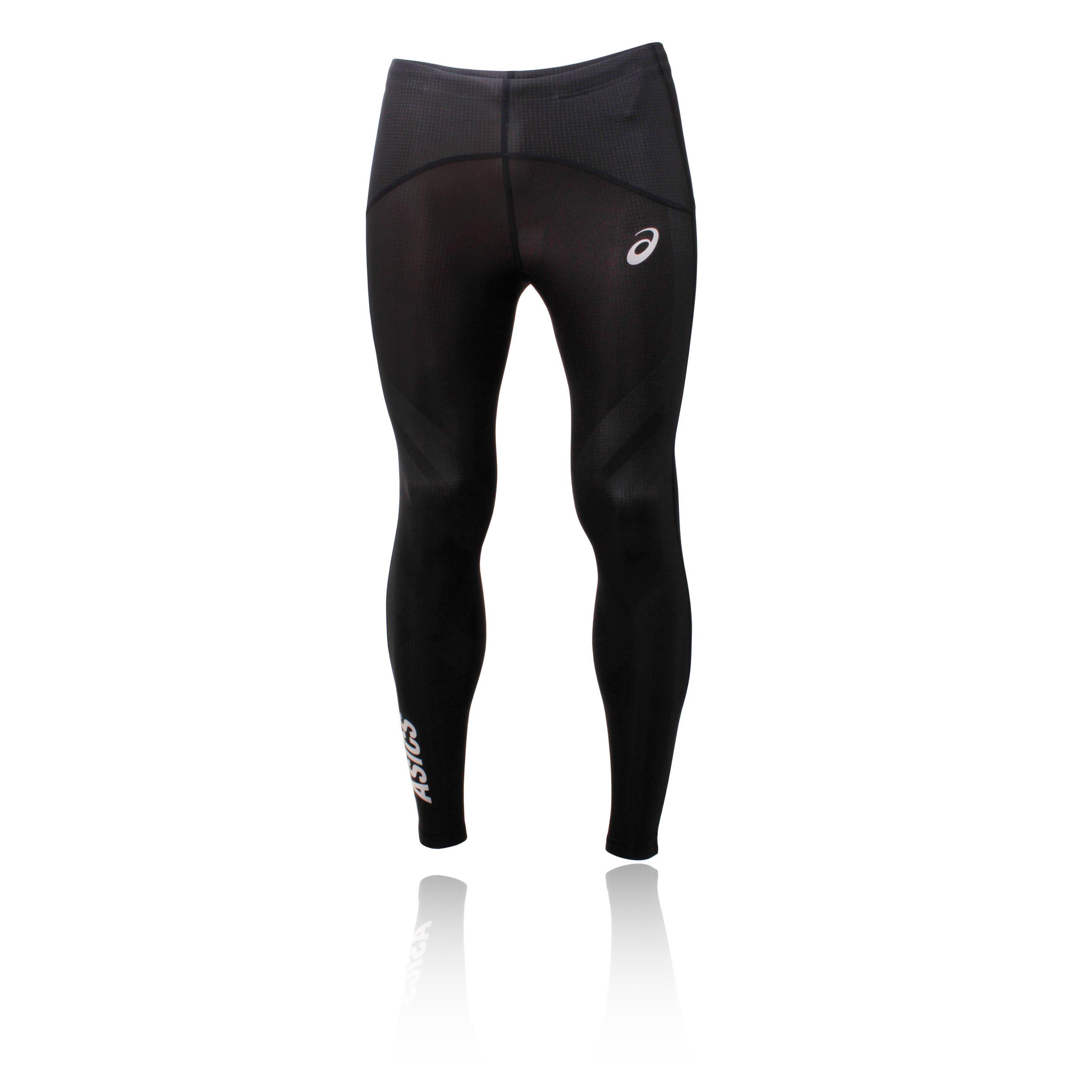Vendita scontata 2019 gamma esclusiva scarpe da skate Dettagli su Asics Finish Advantage Uomo Nero Compressione Corsa Collant  Lungo Pantaloni