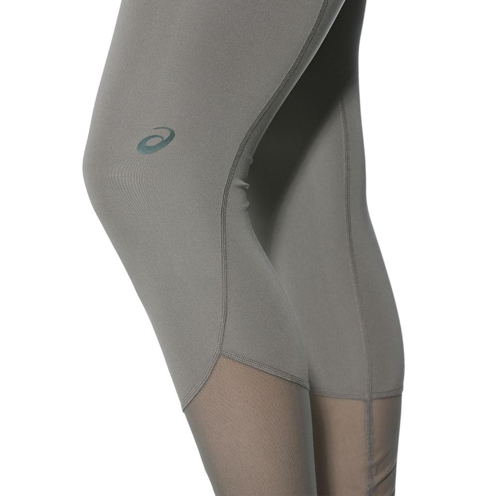Dettagli su Asics Panel Donna Grigio Allenamento Palestra Collant Lungo Sport Pantaloni