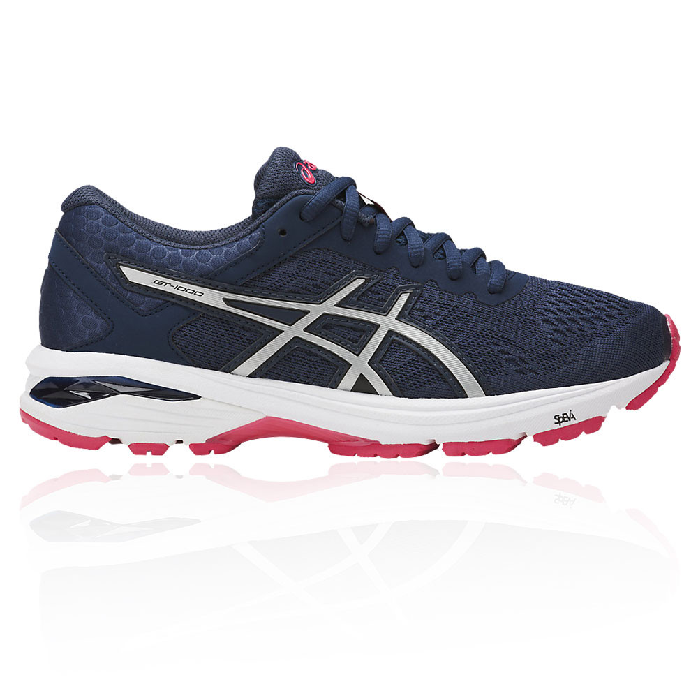 594a7aeac57 Asics Mujer Azul GT-1000 6 Correr Deporte Zapatos Zapatillas Running Calzado
