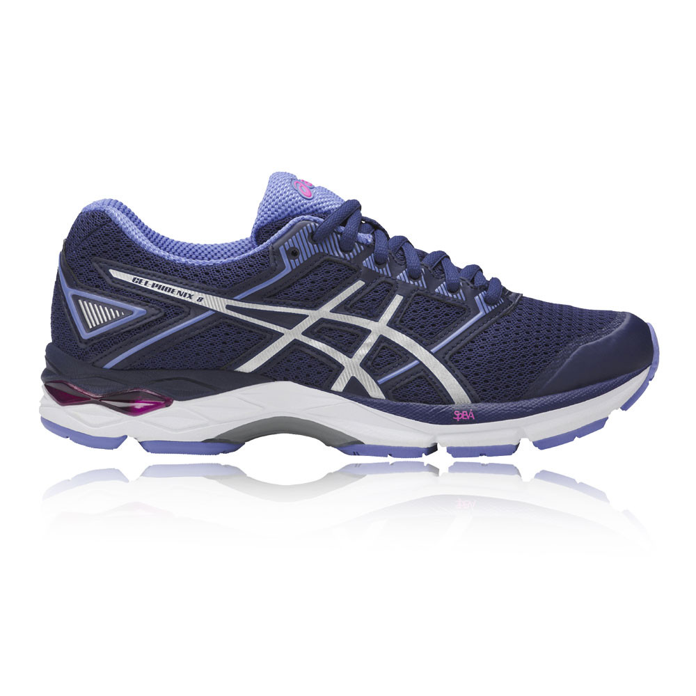 Details about Asics Gel-Phoenix 8 Womens Blue Support Running Road Sports  Shoes Trainers