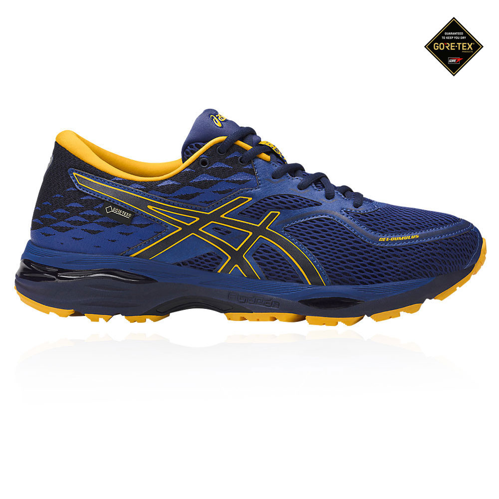 Details about Asics Gel-Cumulus 19 Mens Blue Gore Tex Cushioned Running  Shoes Trainers e64e176670ea