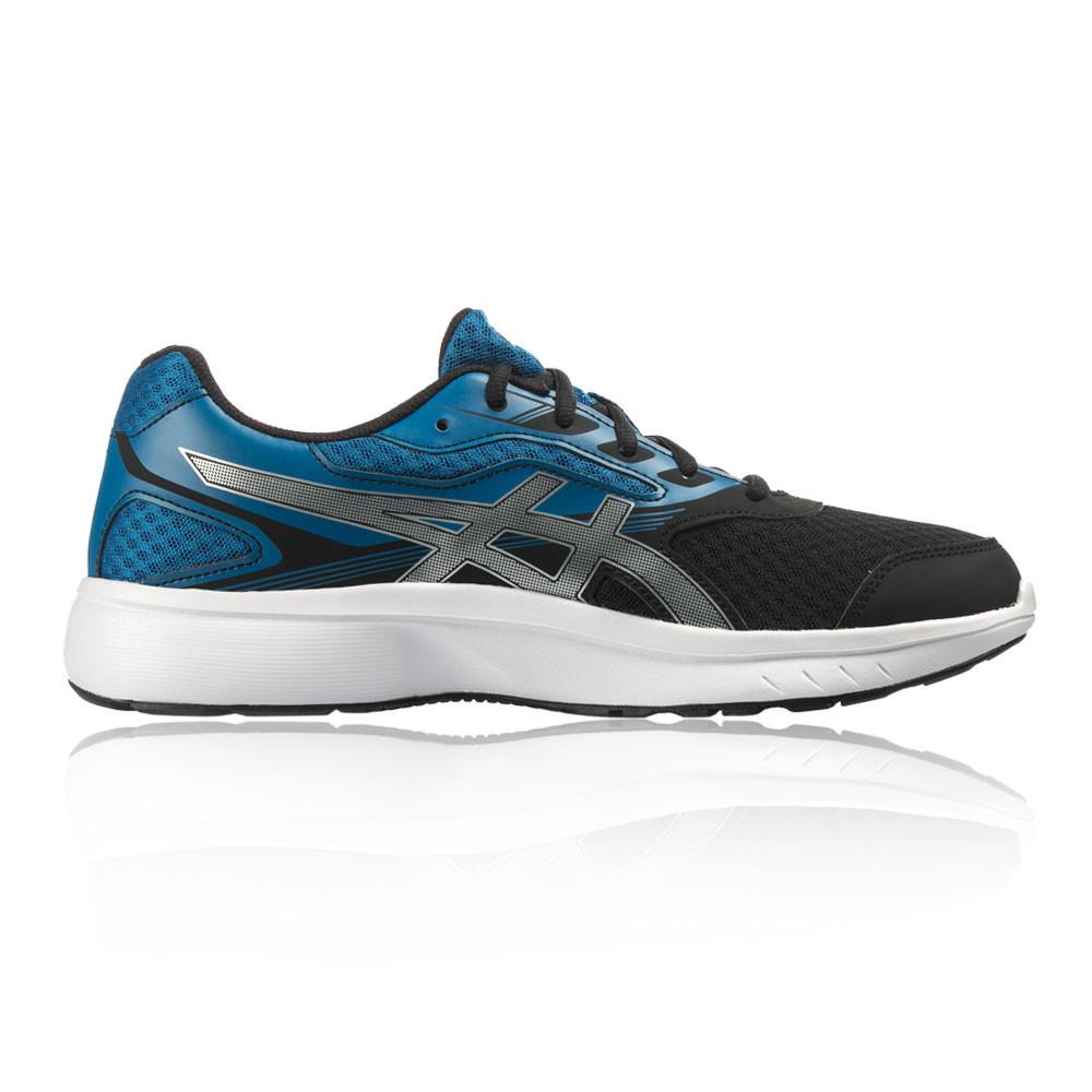 Asics Uomo Nero Blu Stormer Scarpe Da Corsa Ginnastica Stringate Sport  Sneakers 3b882498bf9