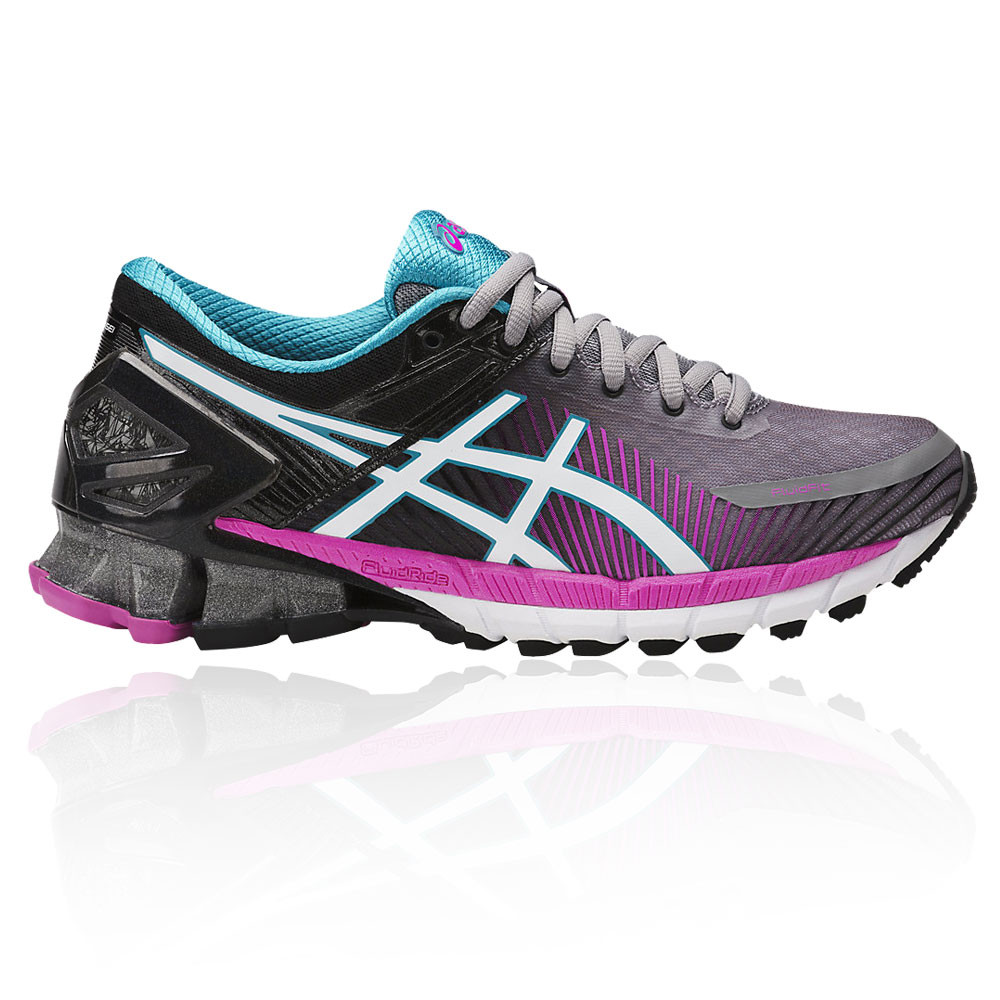 best website 93355 89e47 Image is loading Asics-Gel-Kinsei-6-Womens-Black-Purple-Cushioned-