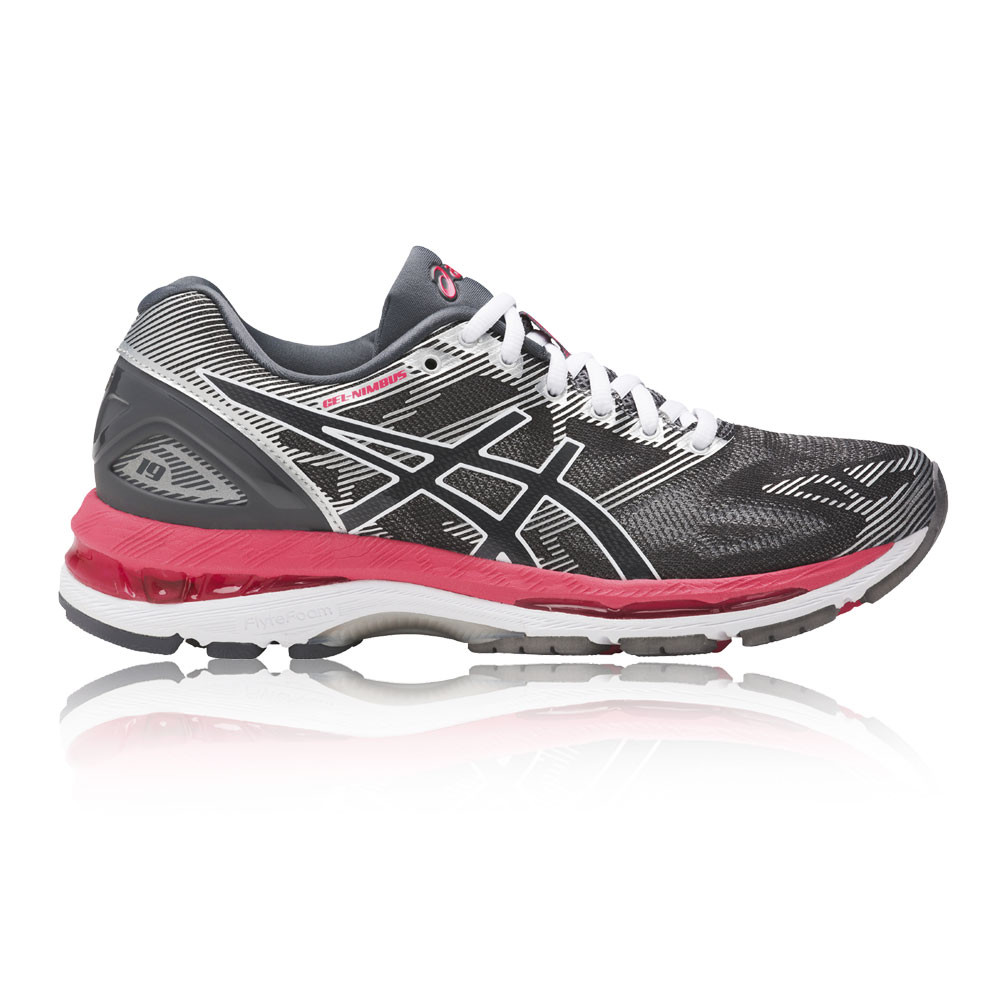 a478f410b05c Details about Asics Womens Gel Nimbus 19 Running Shoes Trainers Sneakers  Grey Pink Sports
