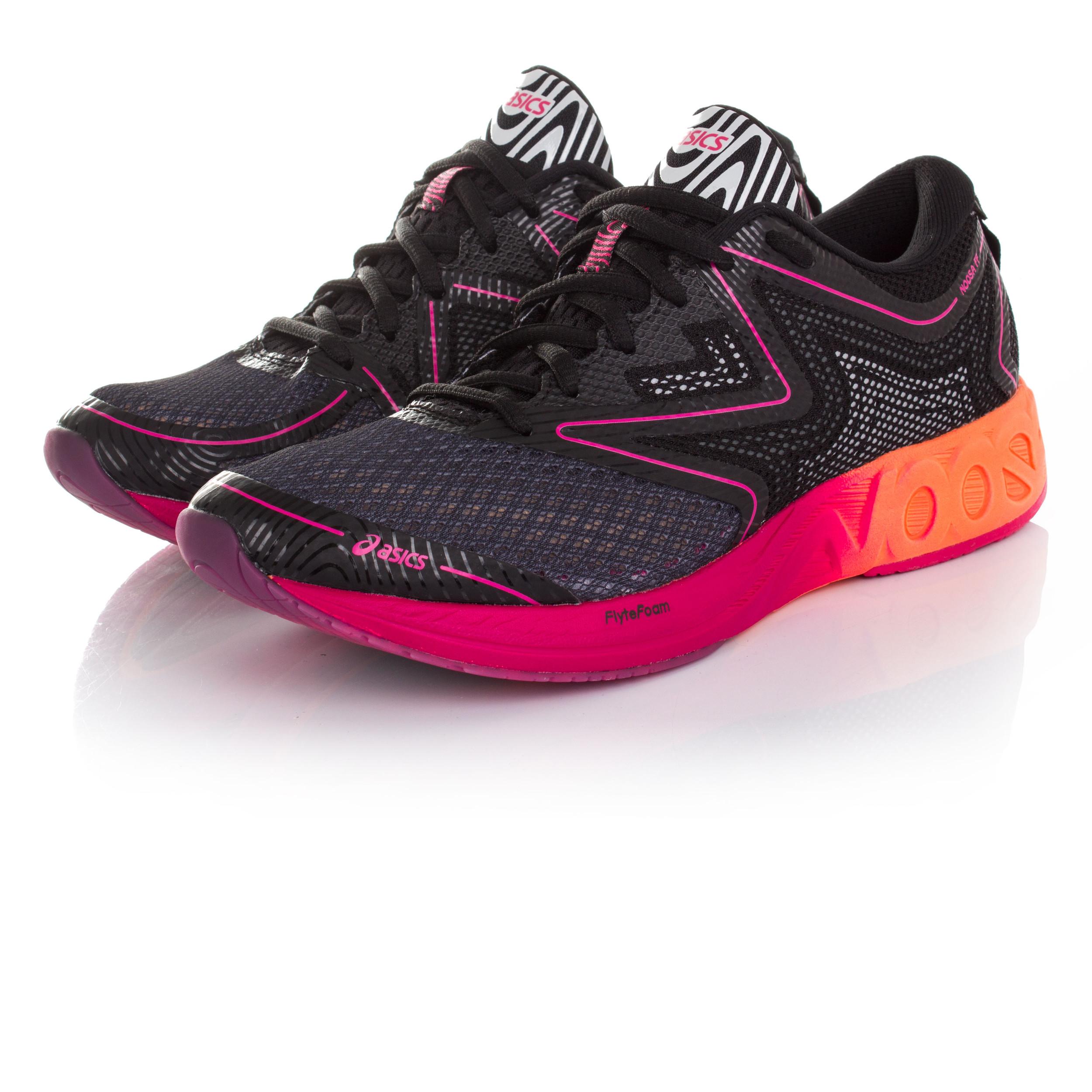Détails sur Asics Gel Noosa Ff Femmes Noir Amorti Running Chaussures De Sport Baskets
