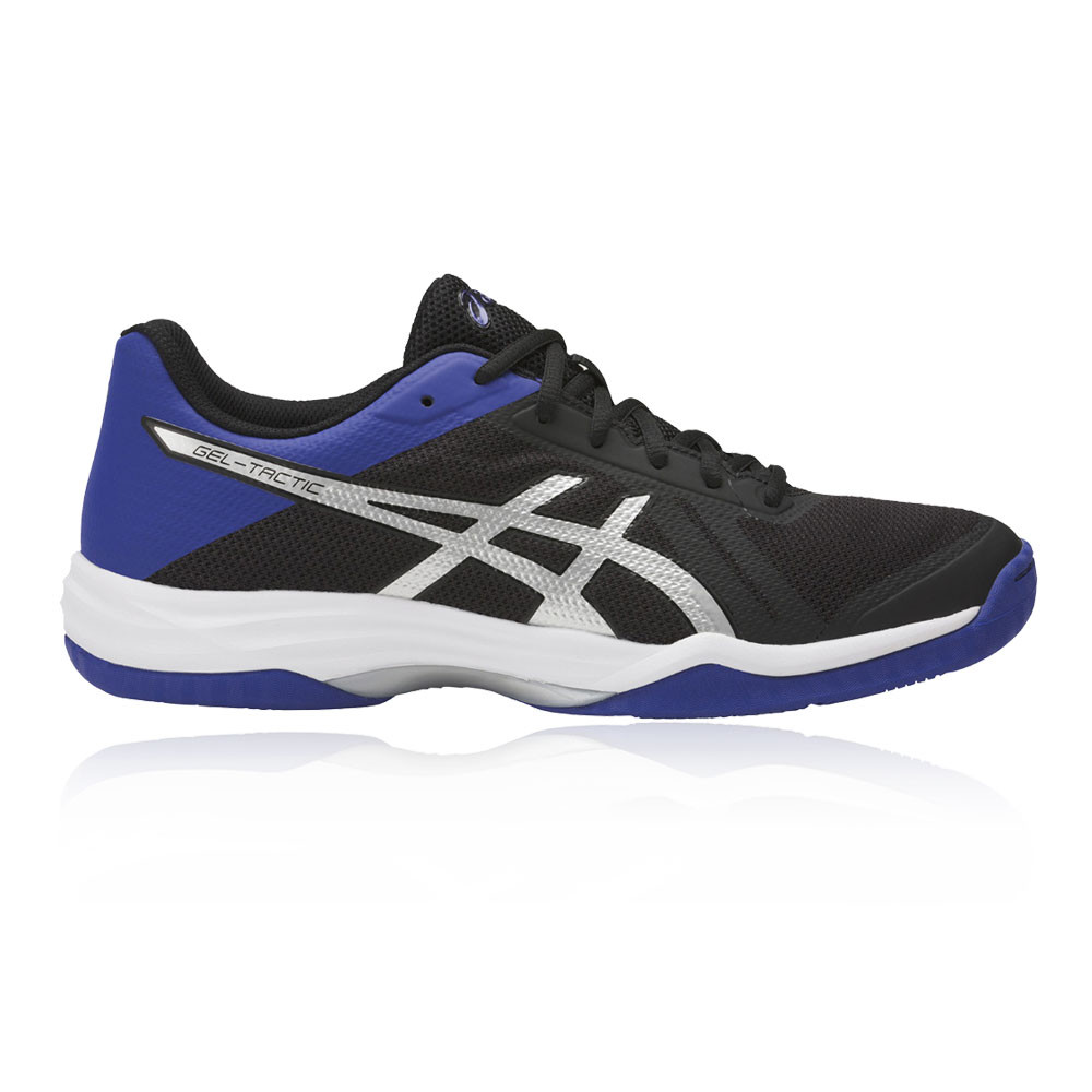 Asics Hombre Negro Azul Gel-Tactic 2 Interior Corte Zapatos Zapatillas  Calzado 0280f19715de0