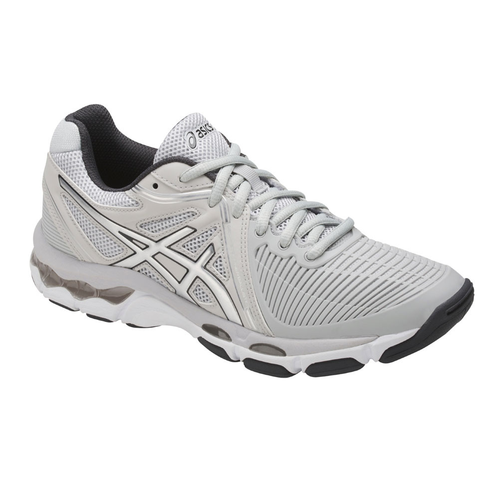 794a9c1d90d Details about Asics Gel-Netburner Ballistic Womens White Netball Court  Shoes Trainers