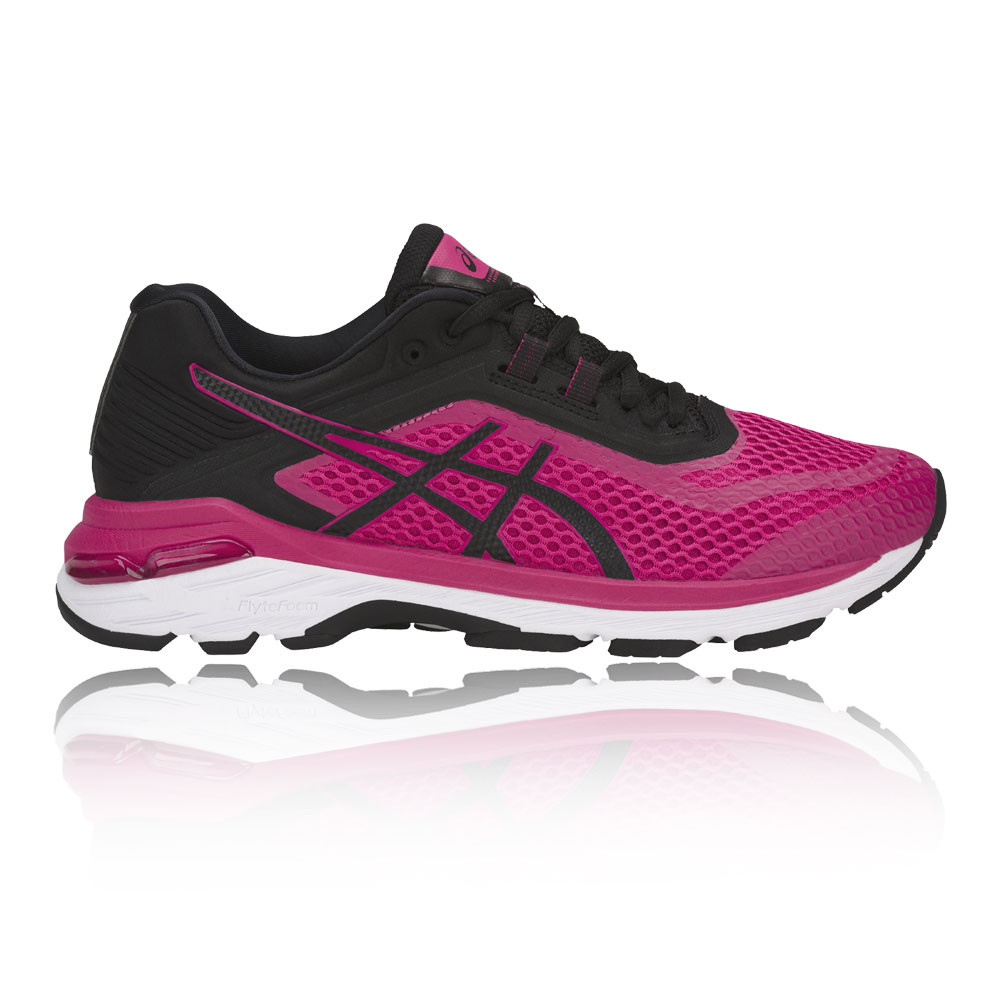 ASICS Womens gt-2000 6 Running Chaussures Trainers Baskets Rose Sports Breathable