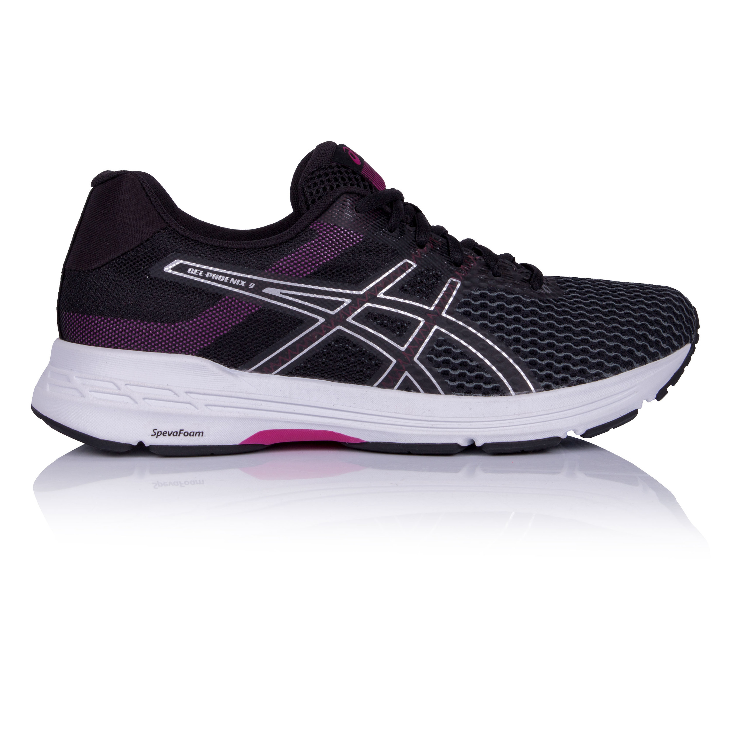 De Zapatillas Mujer Correr Zapatos Gel Detalles Deporte Phoenix Asics Negro Running 9 jLR453A