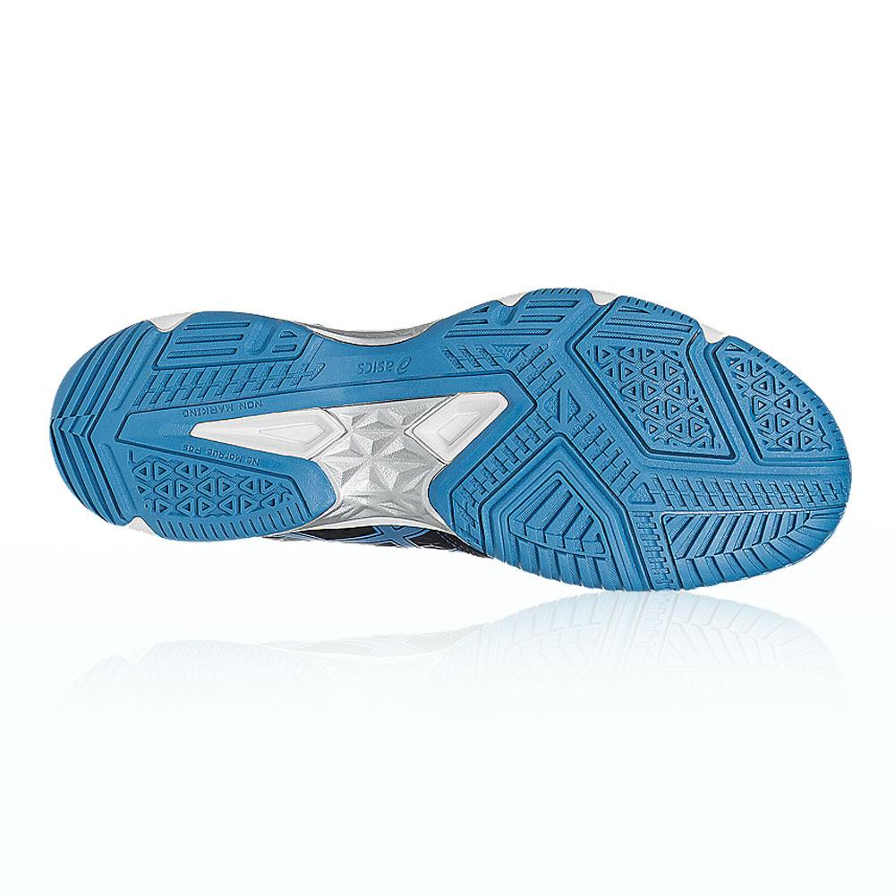 finest selection 15d14 a0e47 Asics Hommes Bleu Blanc Gel-Domain 4 Chaussures De Sport En Salles Baskets
