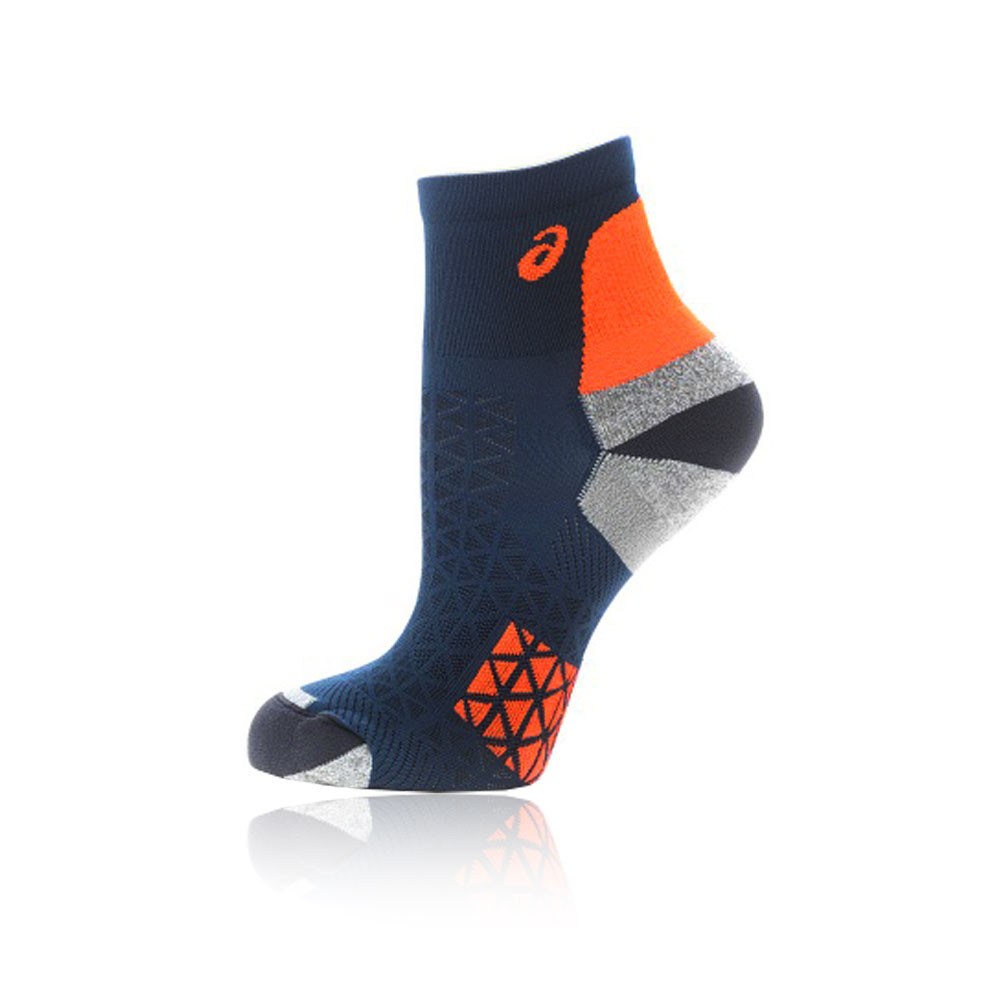 1834ab11b746 Details about Asics Mens Marathon Club Running Socks Blue Orange Sports  Breathable Lightweight
