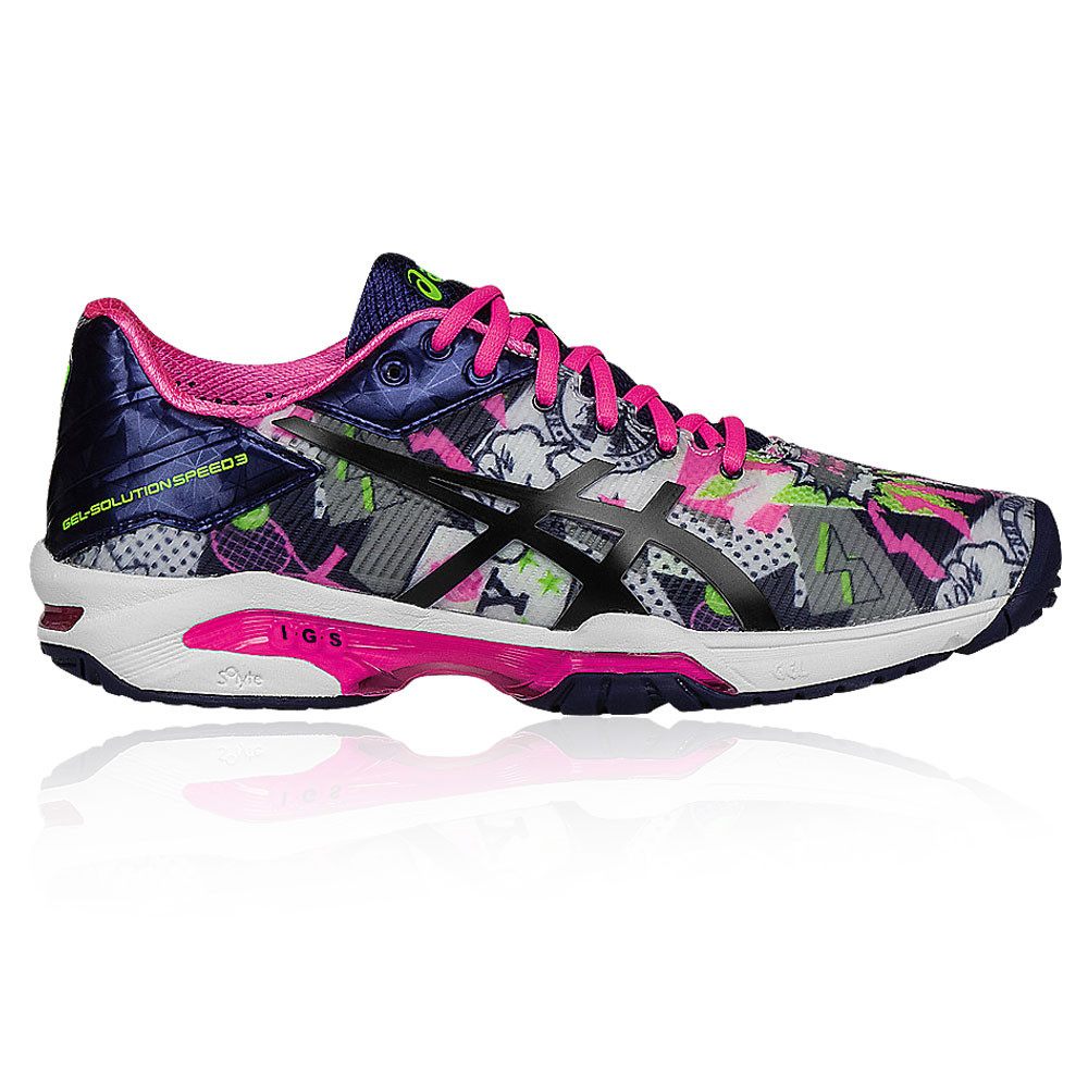 2d771f723c Details about Asics Womens Gel-Solution Speed 3 L.E. N.Y.C Court Shoes Pink  Purple Trainers