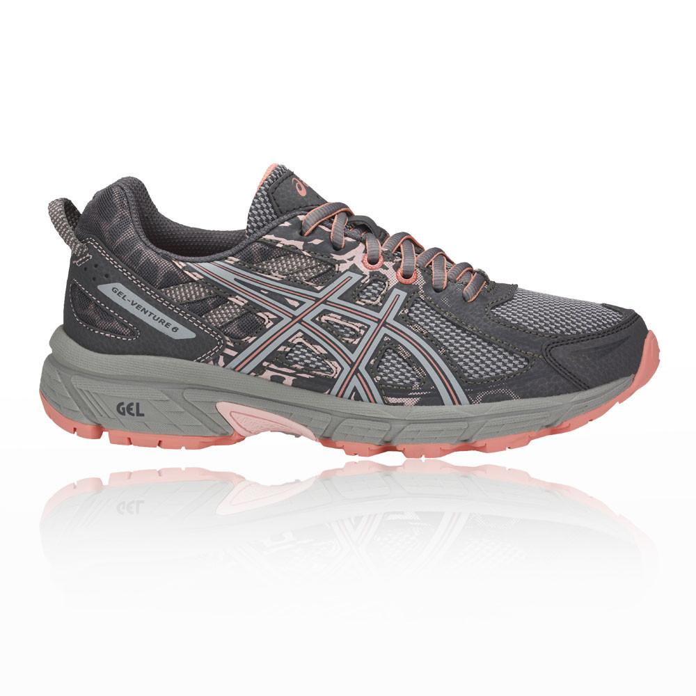ASICS Gel Venture 6 Donna Arancio Blu Trail Running Scarpe da ginnastica scarpe sportive