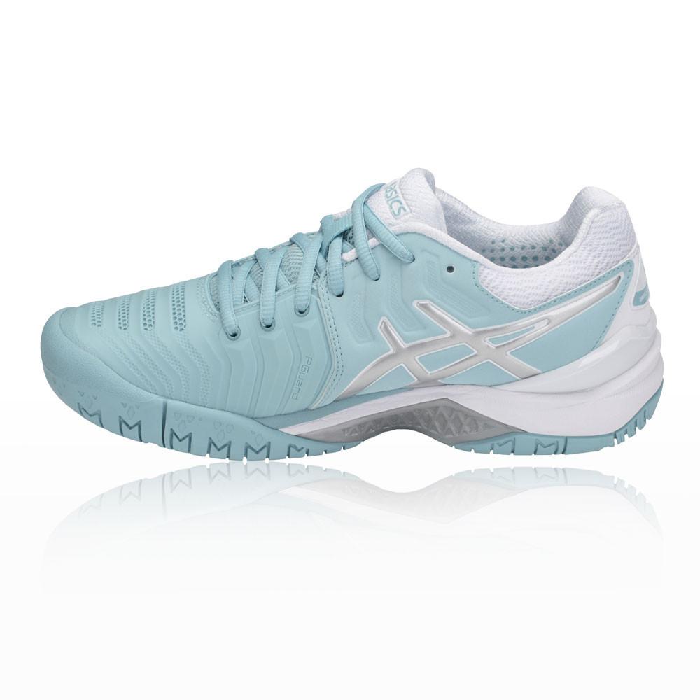 sale retailer 00d22 c2867 ... Asics Femmes Gel-Resolution 7 Tennis Tennis Tennis Chaussures De Sport  Baskets Bleu Blanc 15ea55 ...