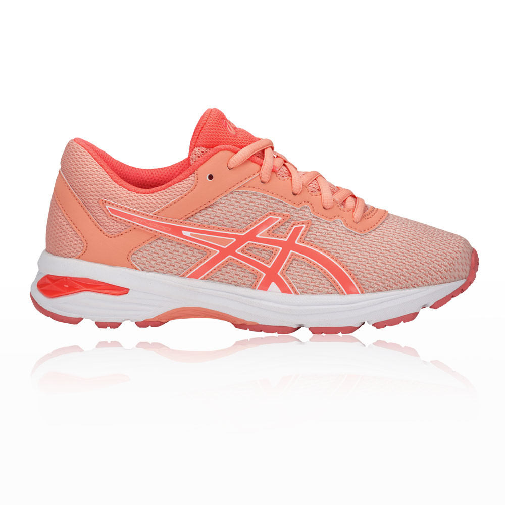 2b006cad55be Details about Asics Girls GT-1000 6 GS Junior Running Shoes Trainers  Sneakers Orange Pink