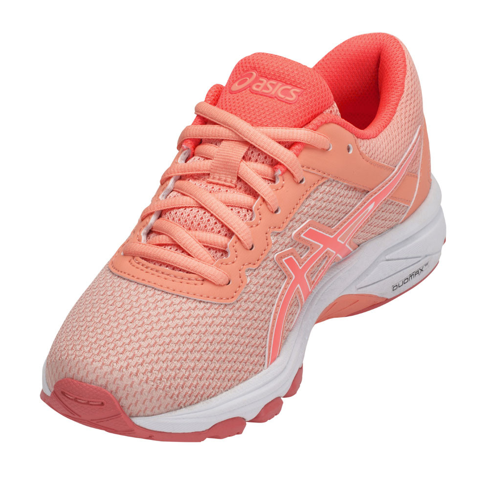 5038620eb699 Asics Girls GT-1000 6 GS Junior Running Shoes Trainers Sneakers Orange Pink
