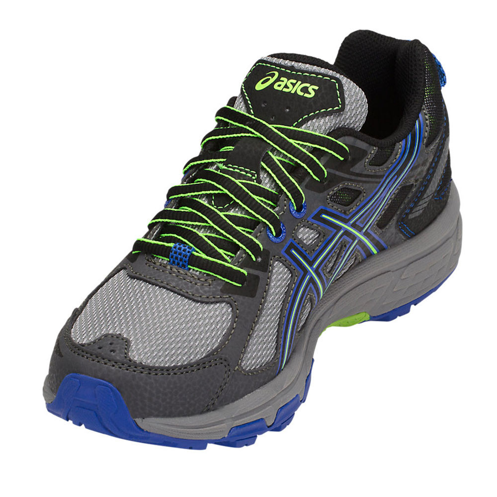 ecf07345342 Asics Homme Gel-Venture 6 Trail Chaussures De Course Baskets Sneakers Noir  Bleu Sport