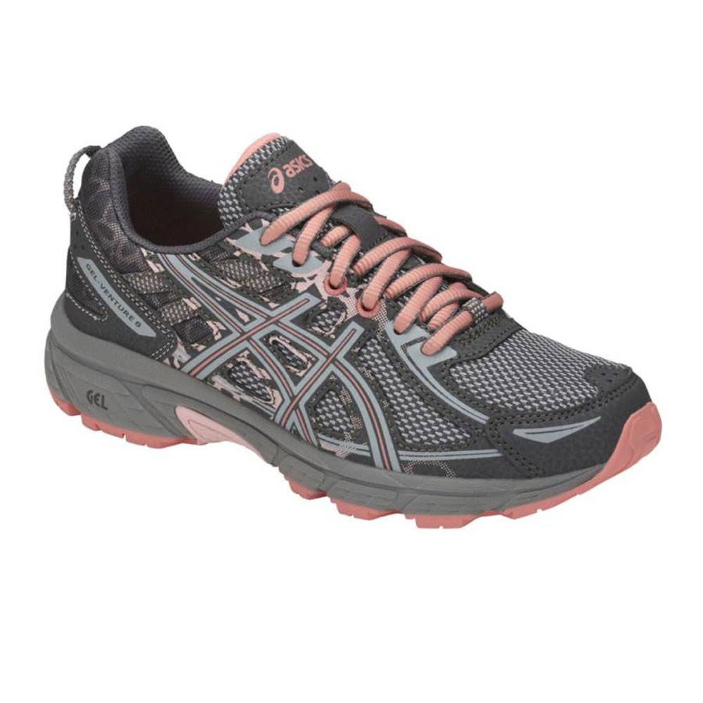 f75ad09b10549 Asics Filles Gel-Venture 6 GS Trail Chaussures De Course À Pied Baskets Gris