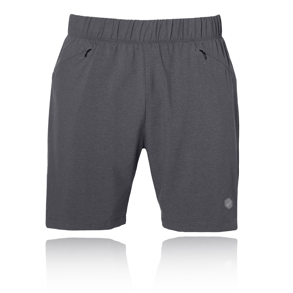 93d1fb90 Details about Asics Mens 2-In-1 7 Inch Running Shorts Pants Trousers  Bottoms Grey Sports