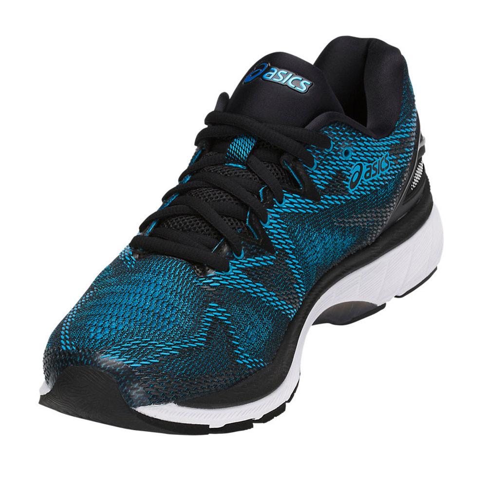 Detalles de Asics Hombre Gel nimbus 20 Correr Zapatos Zapatillas Negro Azul Marino Deporte