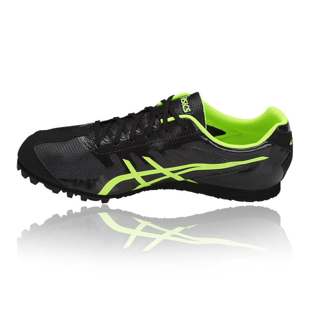 Détails sur Asics Unisexe Hyper LD 5 Chaussures De Course À Pointes Athlétisme Noir