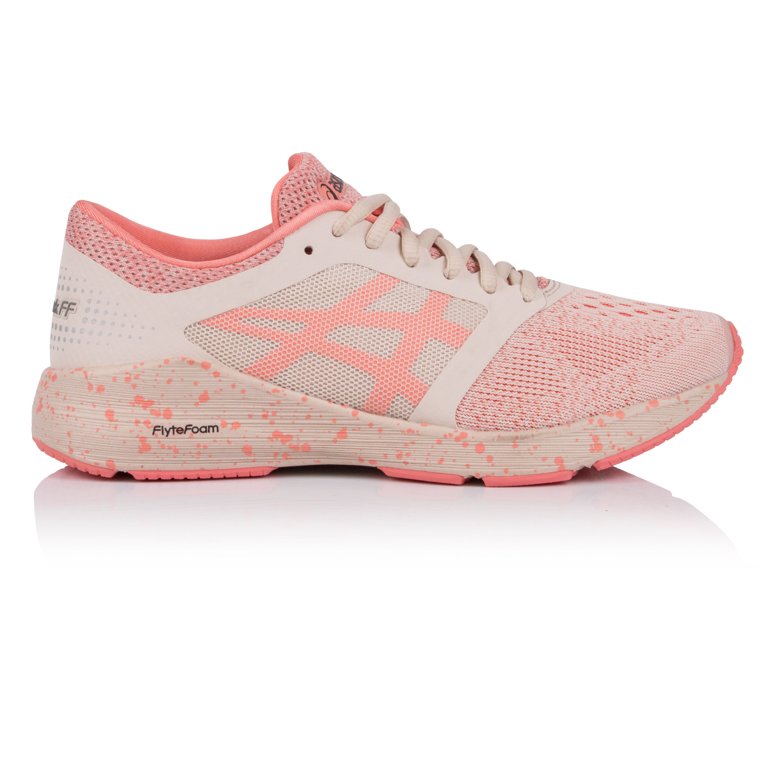 Details about Asics Womens Roadhawk FF Running Shoes Trainers Sneakers Pink Sports Breathable