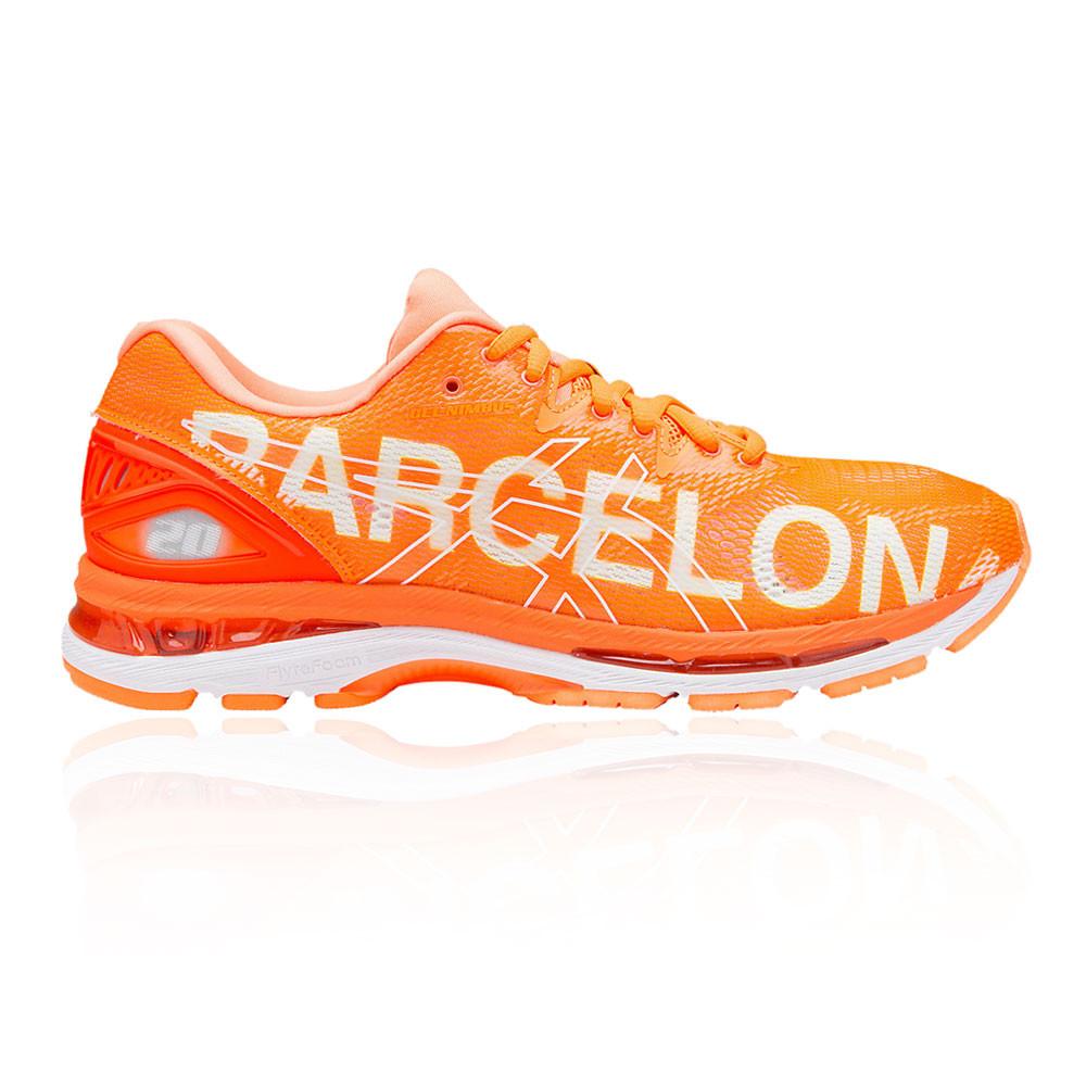 ASICS Donna Gel Nimbus 20 BARCELLONA Scarpe Da Corsa Ginnastica Arancione