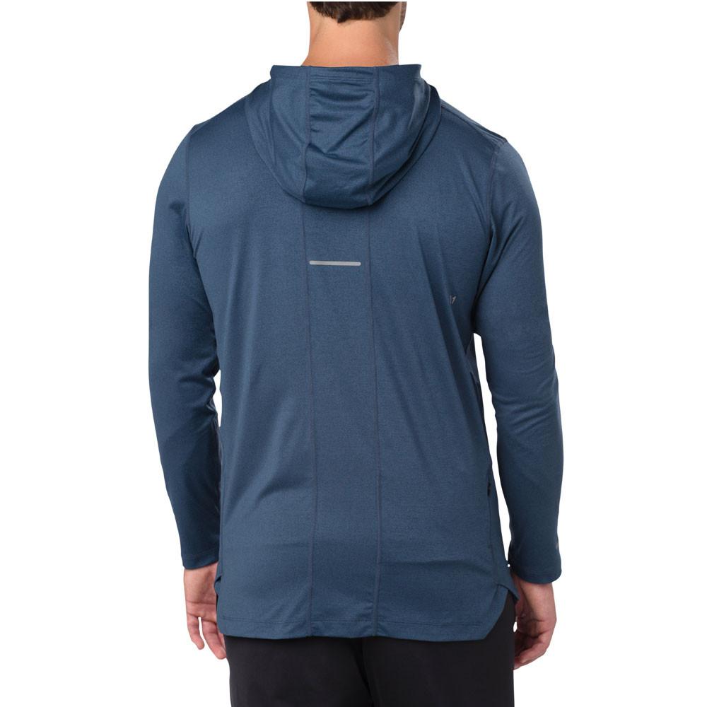 Ronhill Homme Sweat à capuche gris zip complet Gym Course Entraînement Hiver Mode Sweat à capuche