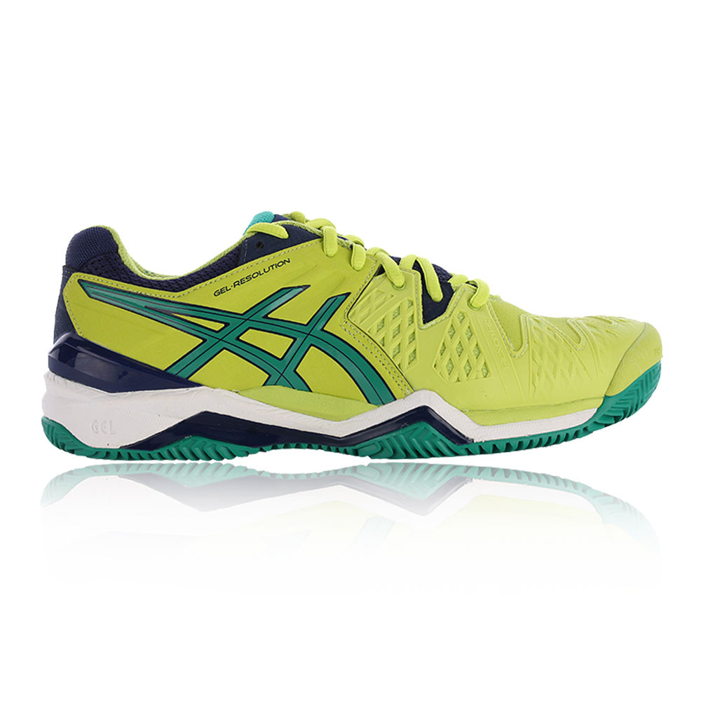 ASICS Uomo Gel-Resolution 6 Clay Court Scarpe Da Tennis Scarpe Sportive Verde Giallo