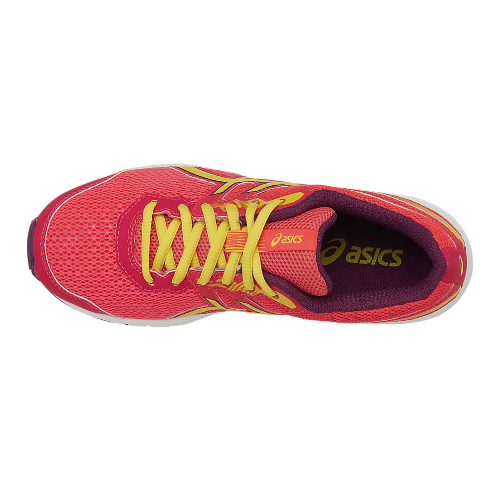 Detalles de Asics Boys Chicas Gel zaraca 5 Gs Junior Correr Zapatos Zapatillas Rojo