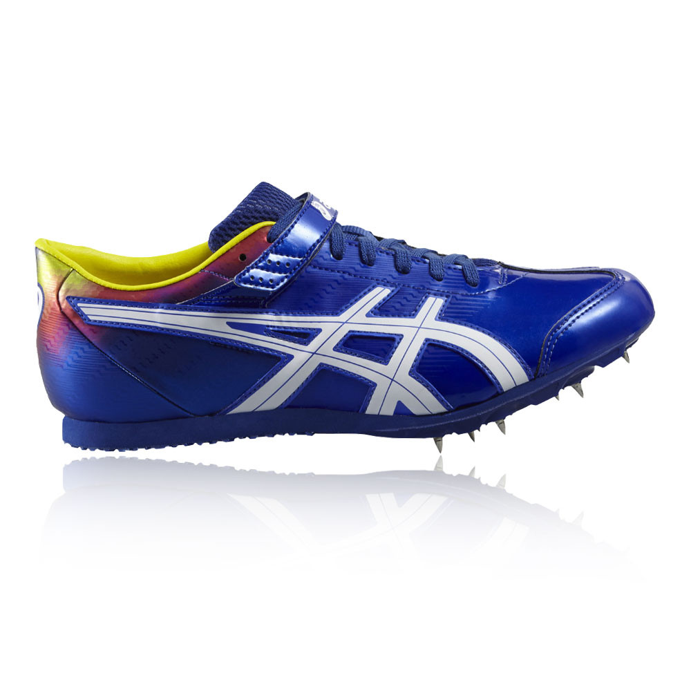 Details about Asics Mens Triple Jump Pro Flame Spikes Blue Breathable Lightweight Trainers