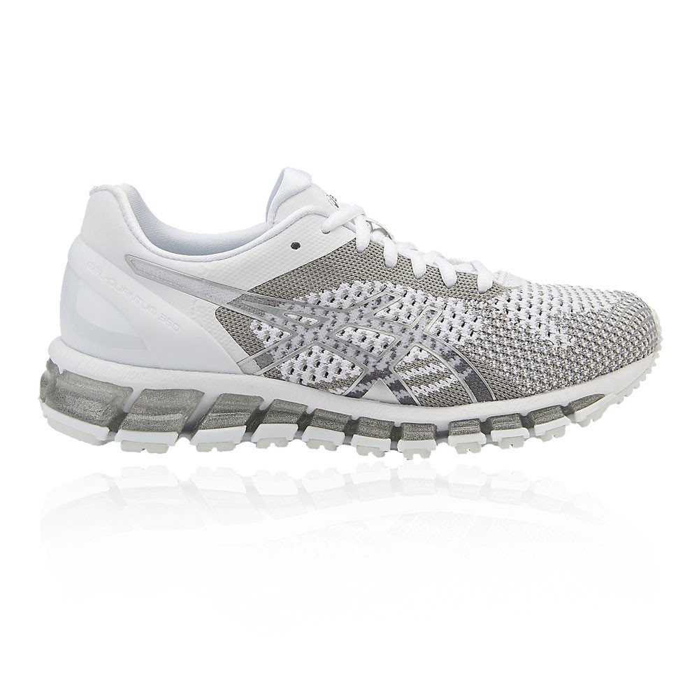 premium selection dc9dc c7596 Details about Asics Womens Gel-Quantum 360 Knit Running Shoes Trainers  Sneakers Silver White