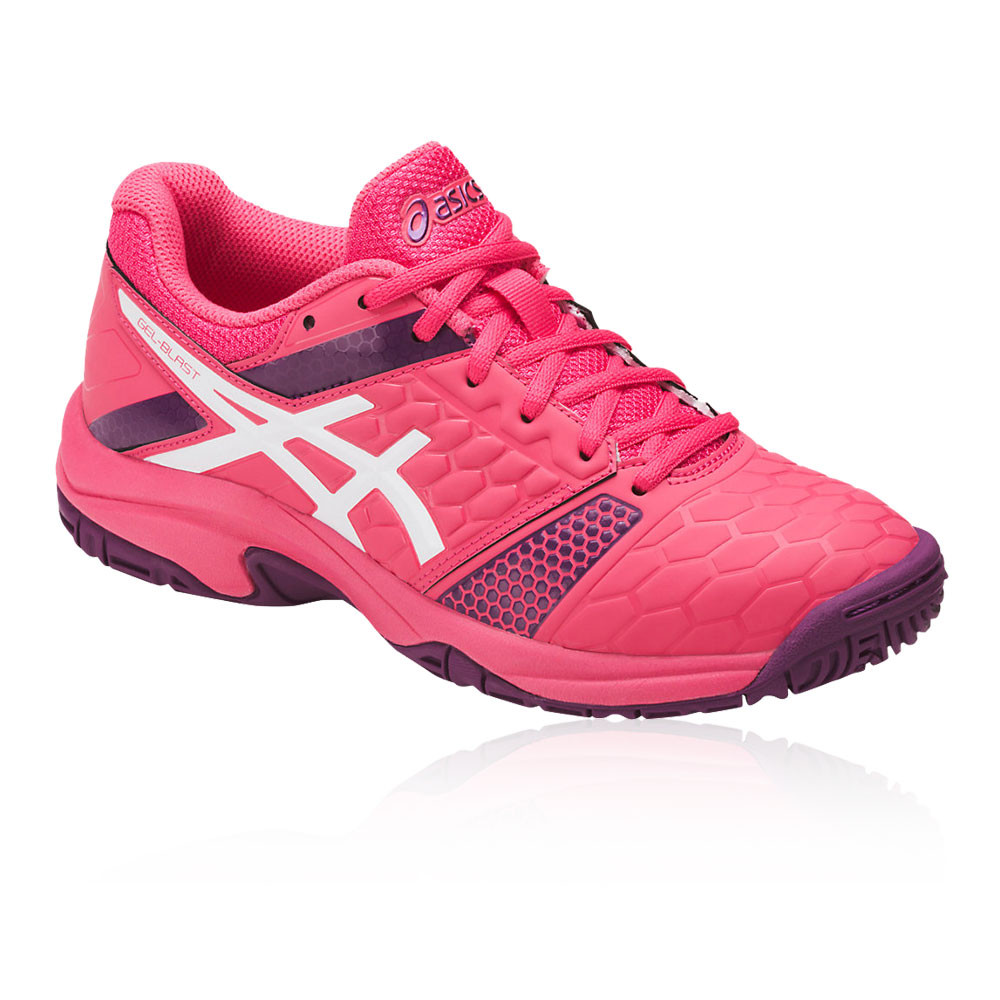 modelos de gran variedad 100% autenticado fotos oficiales Asics Junior Gel-Blast 7 Indoor Court Shoes Pink Sports Badminton ...