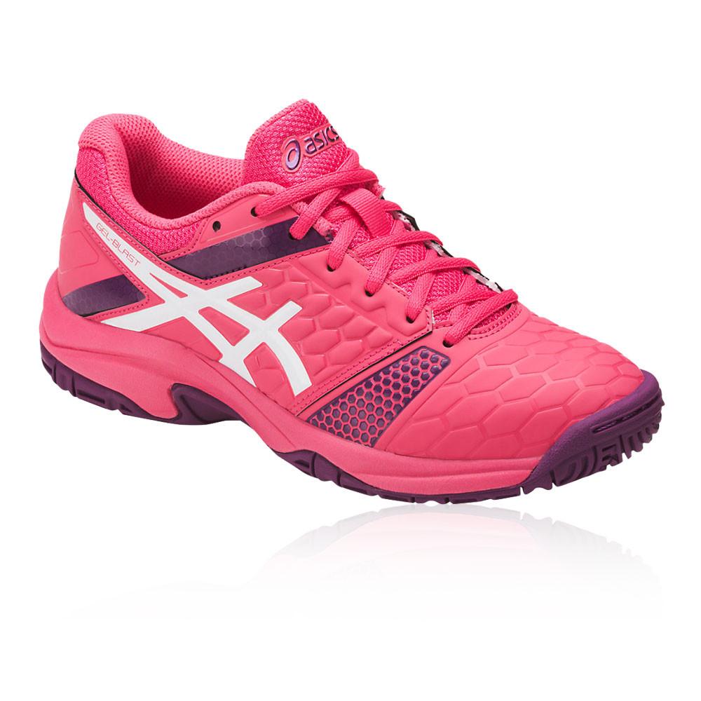 nouveau style de vie prix plancher rechercher le dernier Details about Asics Junior Gel-Blast 7 Indoor Court Shoes Pink Sports  Badminton Handball