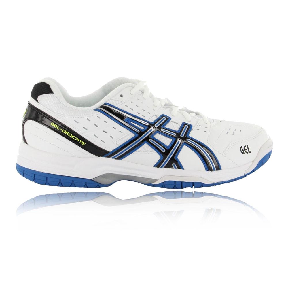 ASICS Uomo Gel dedicare 3 Indoor scarpa da tennis bianco Sport Traspirante Leggero