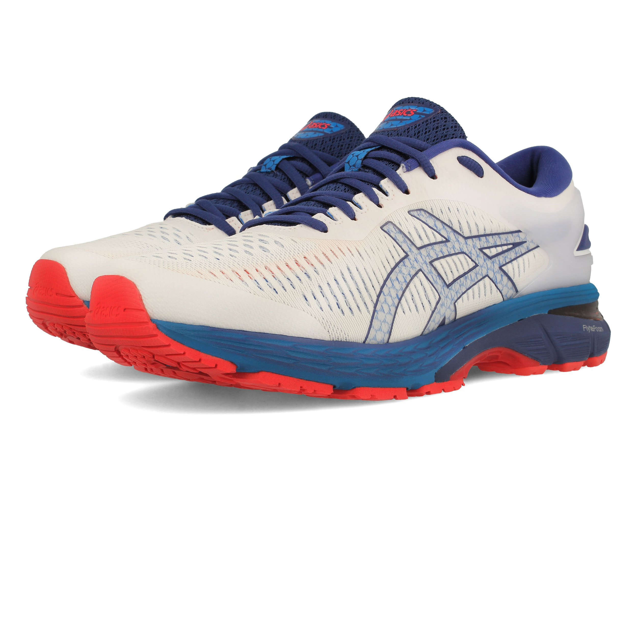 baef450b1796 Asics Mens Gel-Kayano 25 Running Shoes Trainers Sneakers White Sports  Breathable