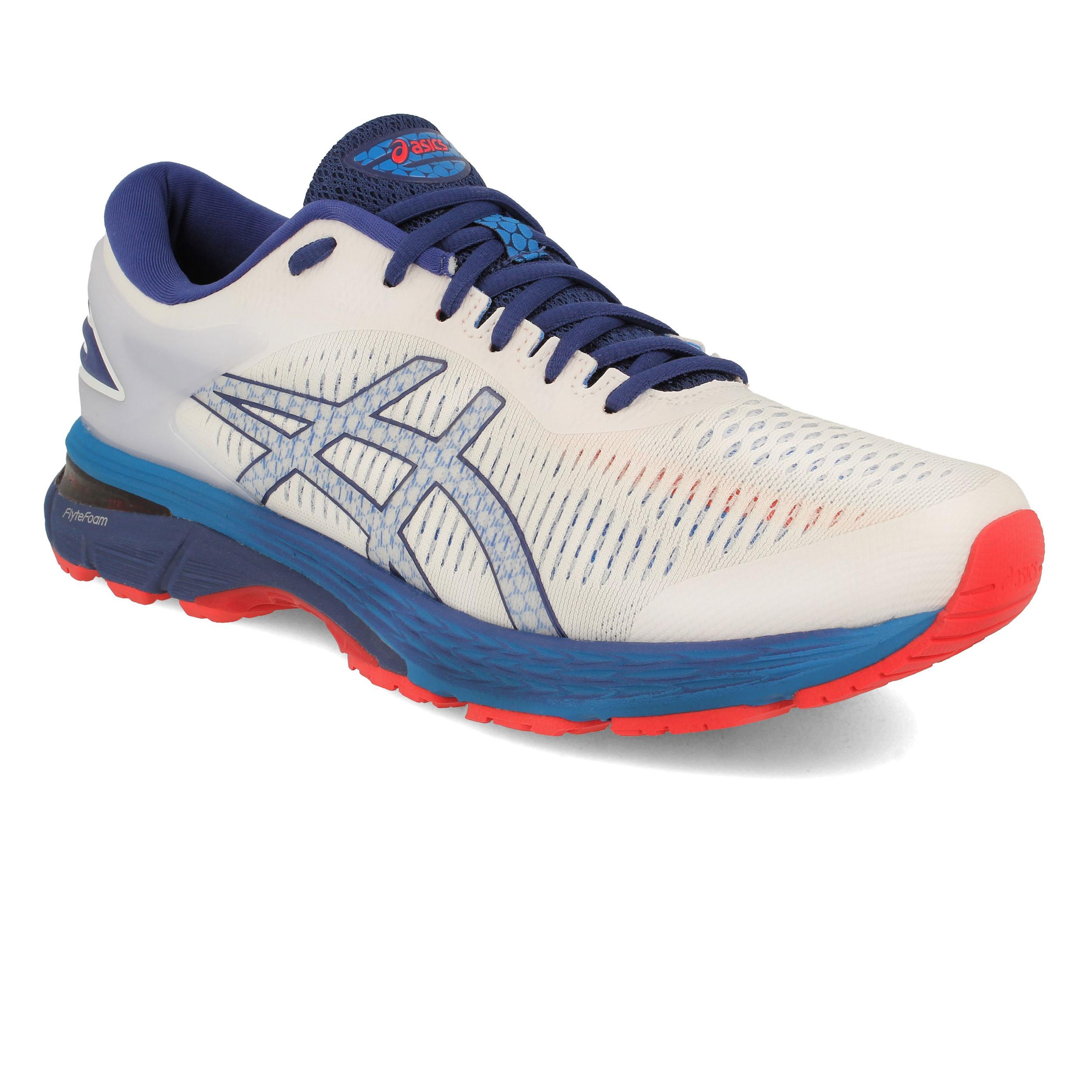 Détails sur Asics Homme Gel Kayano 25 Chaussures De Course Baskets Sneakers Blanc Sport Respirant afficher le titre d'origine