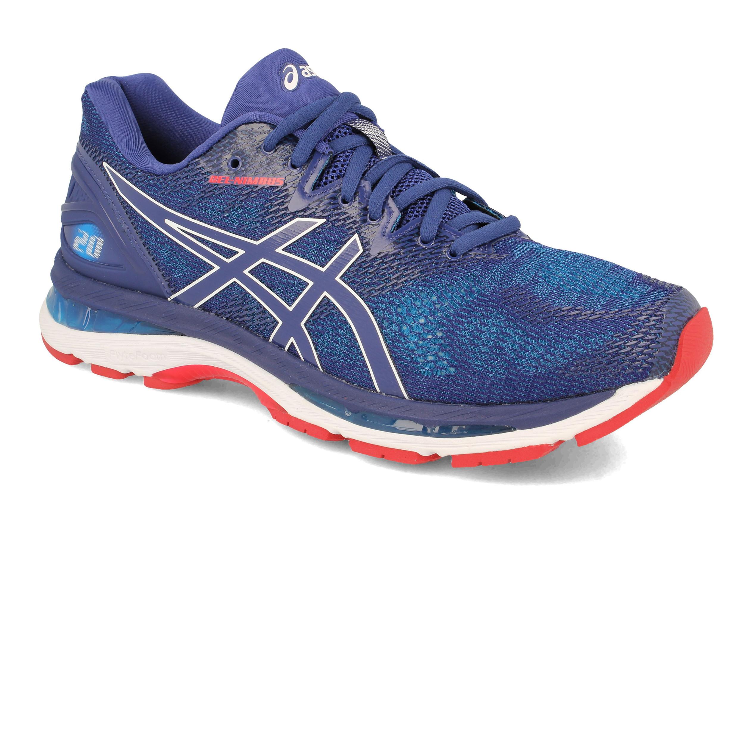 7e0163dd4e0ef Asics Mens Gel-Nimbus 20 Running Shoes Trainers Sneakers Black Navy ...