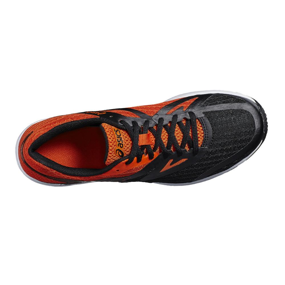 Dettagli su ASICS Uomo Amplica Scarpe da Ginnastica Corsa Sneakers Nero Arancione Sport