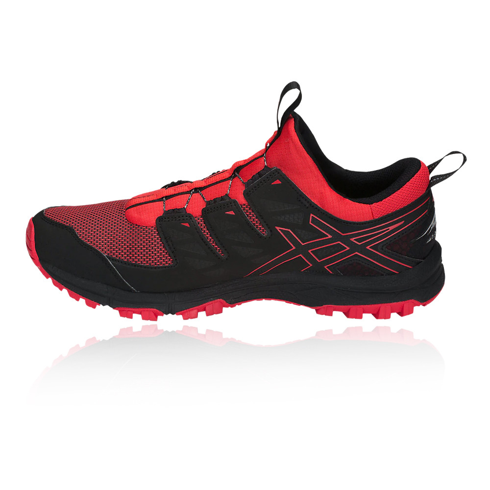 33e5ea07a Asics Hombre Gel-fujirado Sendero Correr Zapatos Zapatillas Negro Rojo  Deporte
