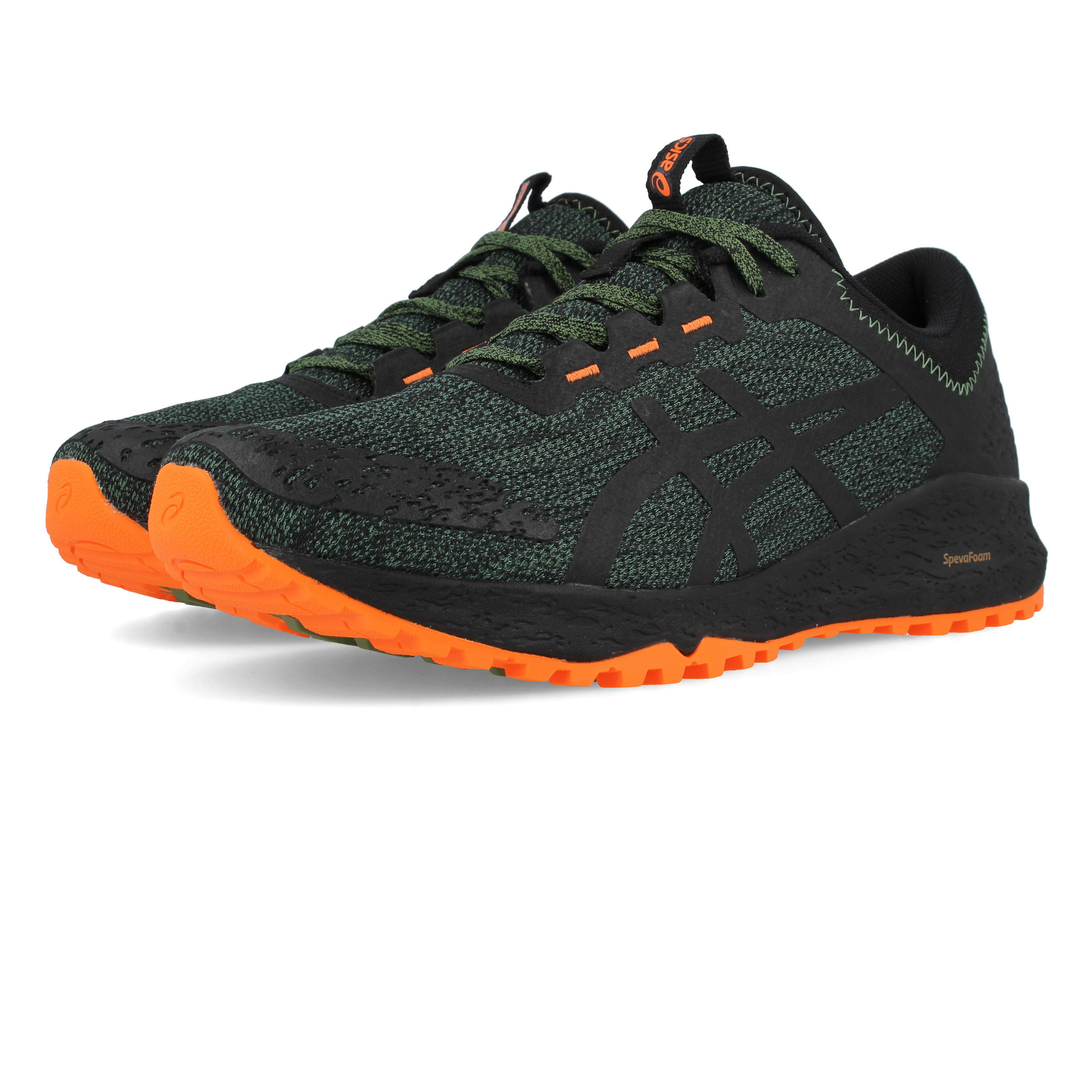 f4da6eaf1 Asics Hombre Alpine Xt Sendero Correr Zapatos Zapatillas Negro Verde Deporte