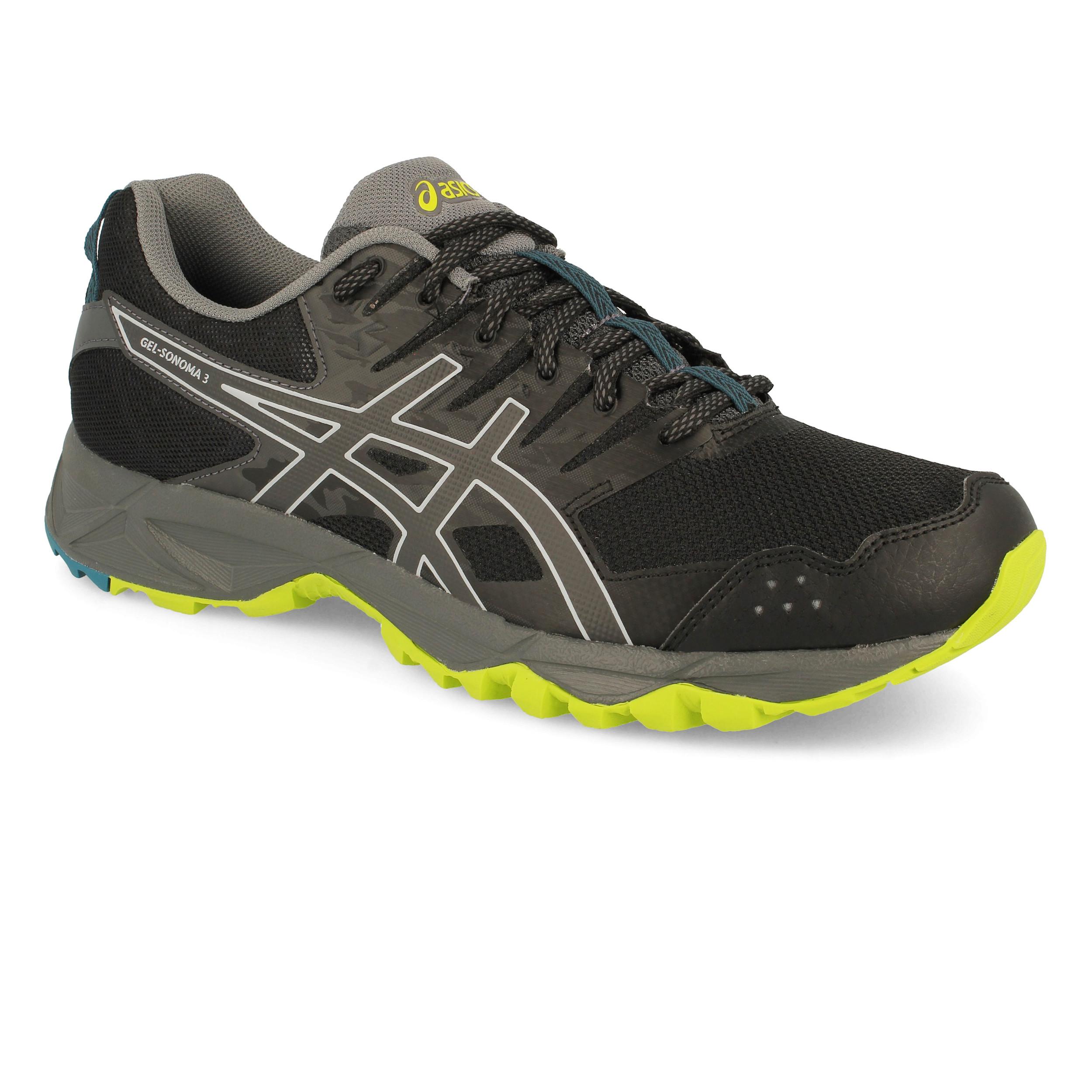 e1c2d4716 Asics Hombre Gel-sonoma 3 Sendero Correr Zapatos Zapatillas Negro Deporte