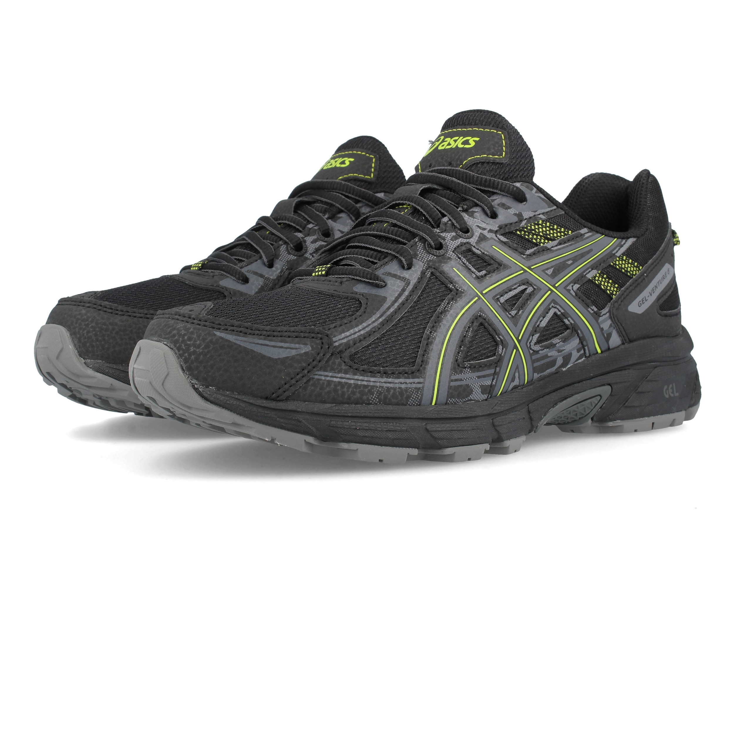 77d708e60ca Details about Asics Mens Gel-Venture 6 Trail Running Shoes Trainers Sneakers  Black Sports