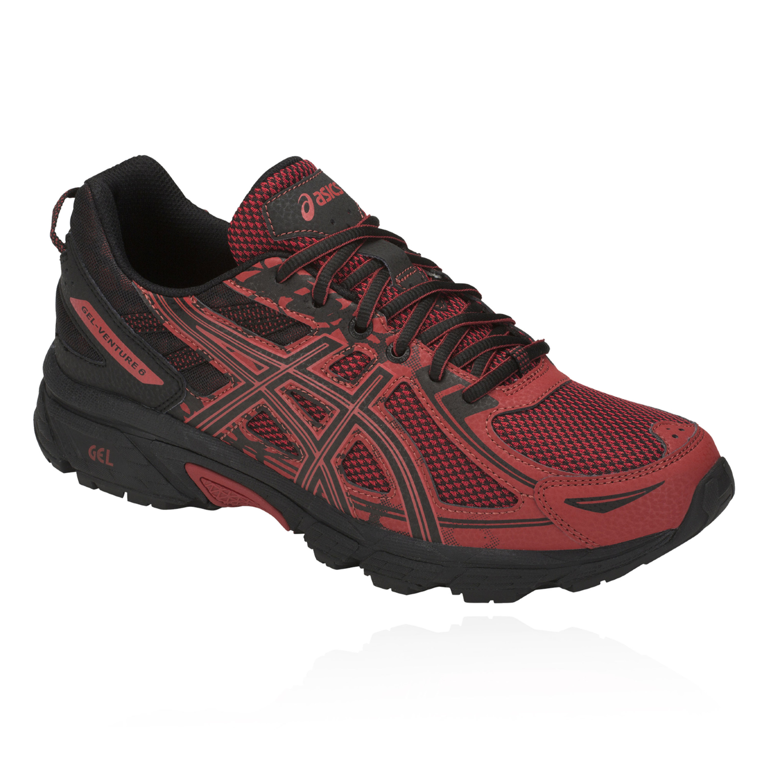 Details about Asics Mens Gel-Venture 6 Trail Running Shoes Trainers Sneakers  Black Red Sports 3611ea85aeca