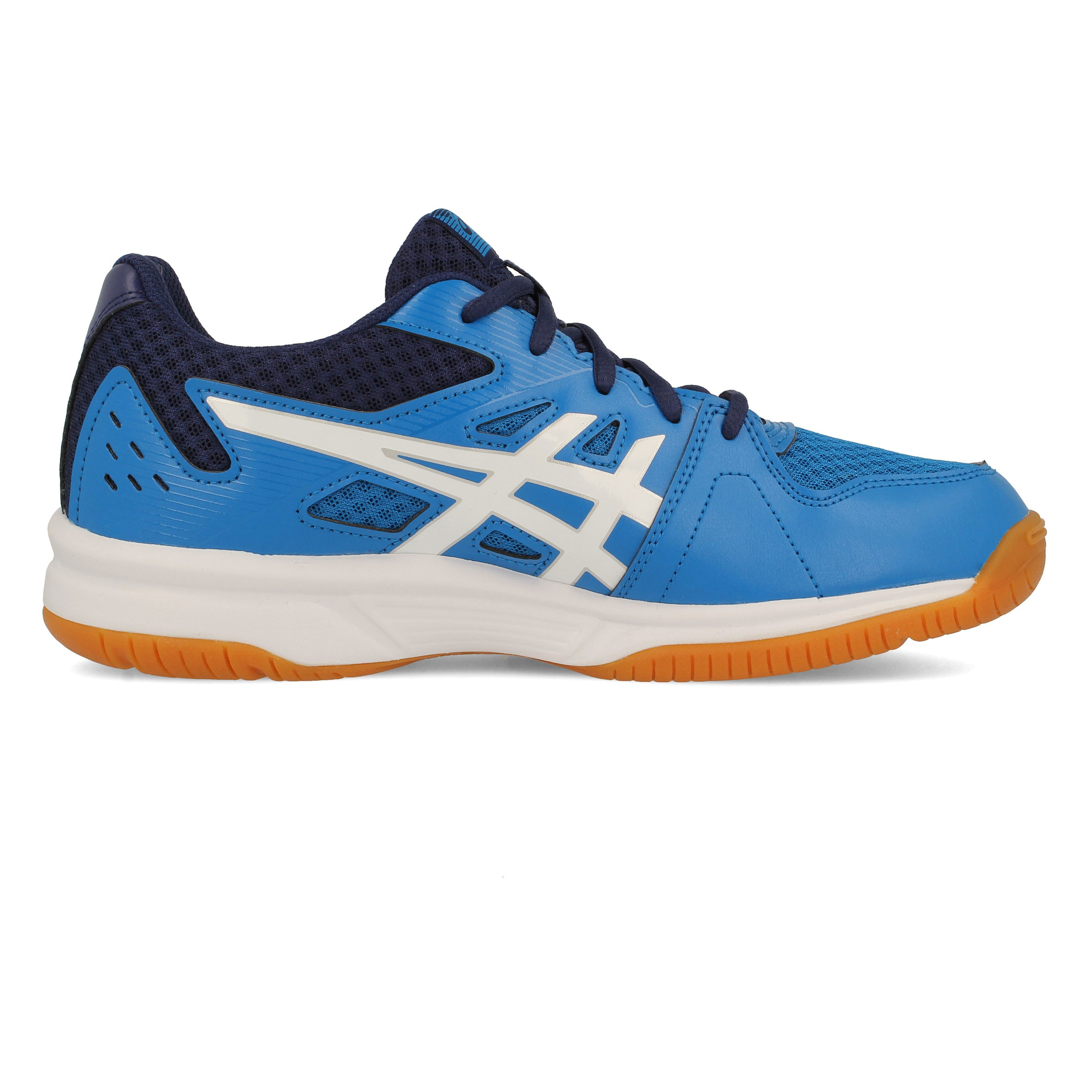 Asics Mens Gel-Upcourt 3 Indoor Court Shoes White Sports Breathable Lightweight