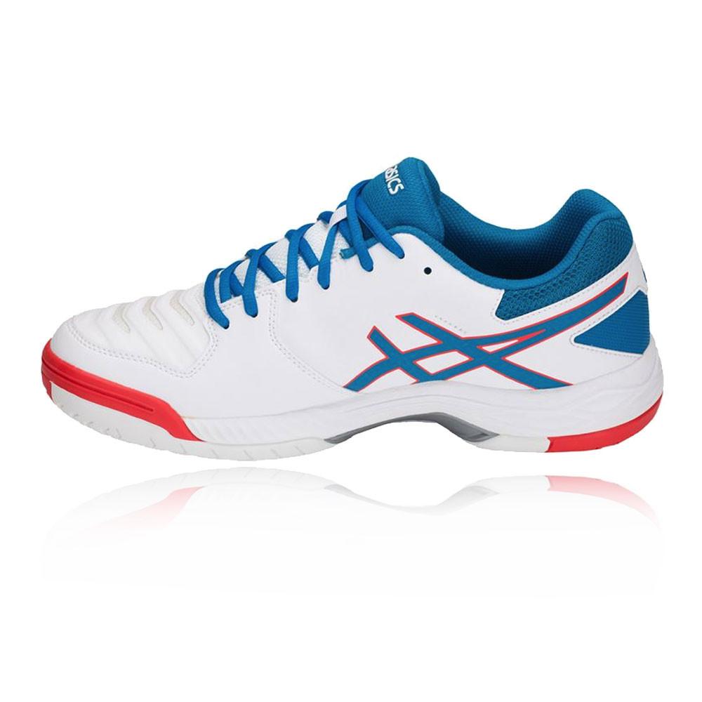 new product 7aa37 e5ef0 Asics Hommes Gel-Game 6 Tennis Chaussures De Sport Baskets Bleu Blanc  Respirant