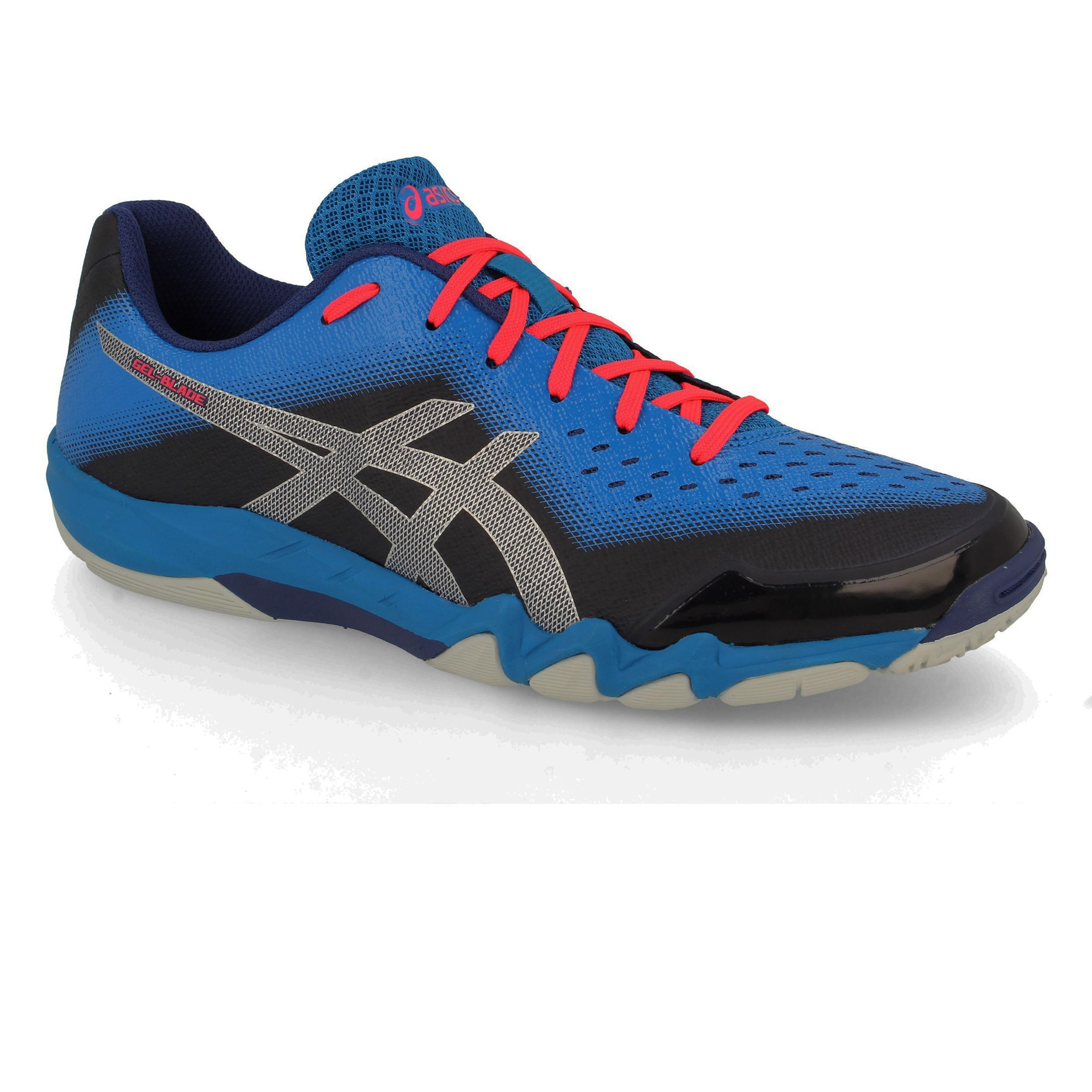 sale retailer 01031 65eeb Asics Hommes Gel-Blade 6 Chaussures De Sport En Salles Baskets Bleu Squash